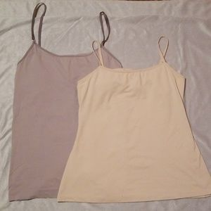 TWO Adjustable Strap Shirts Size M